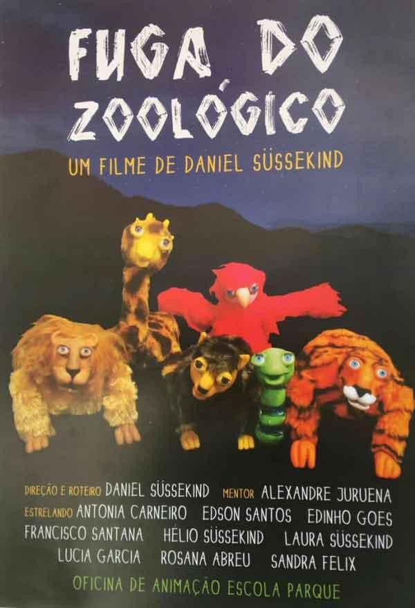 Fuga do Zoológico. Cartaz do filme.
