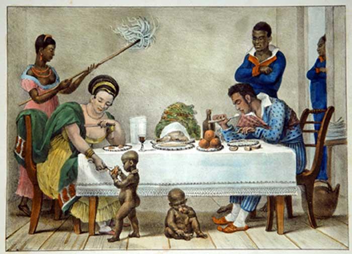 Cena de escravidão.